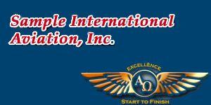 Sample International Aviation, Inc.