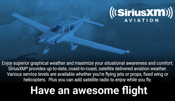 Coast To Coast Sirius Xm >> Data Link Weather Available From Siriusxm Aviation